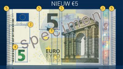 Foto van het nieuwe vijf euro biljet | ECB