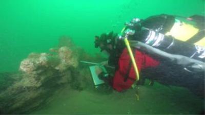 VOC-schip De Rooswijk voor Engelse kust wordt opgegraven