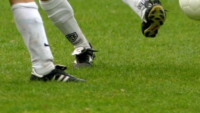 Foto van voetbal gras groen | Archief EHF