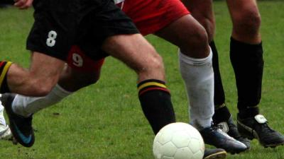 Foto van voetbal zwart rood | Archief EHF