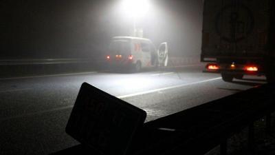 A76 nog afgesloten na ongeval.