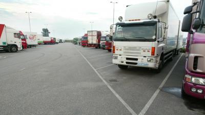 transport, chauffeur, vrachtauto