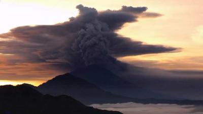 Nederlanders vast op Bali vanwege uitbarsting vulkaan