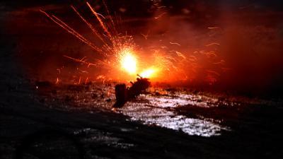 Foto van vuurwerk matje | Archief EHF