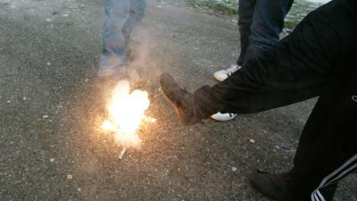 foto van vuurwerk | Politie