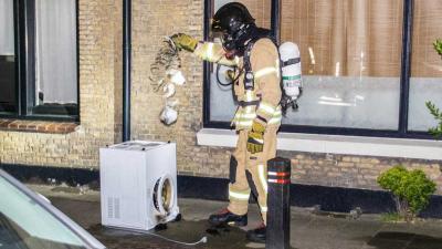 Wasdroger op zolder vat vlam