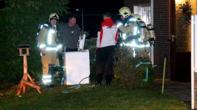 Wasdroger droogt was met vlammen in Aa en Hunze