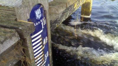 Foto van gemaal en waterpeil NAP | Archief EHF