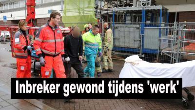 Inbreker raakt bekneld in liftschacht flat Schiedam