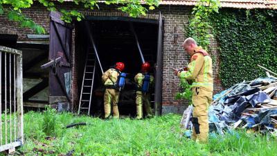 Uitslaande brand treft woonboerderij aan Dorpsstraat in Lieshout