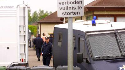 woonwagenkamp-politie