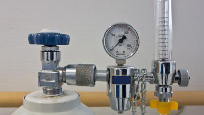 Zuurstoffles met drukregelaar