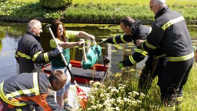 Foto van gevangen zwaan | Parkstadveendam.nl | www.parkstadveendam.nl