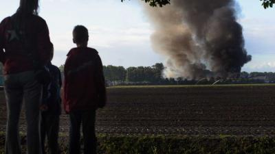 Grote brand in Brabantse champignonkwekerij